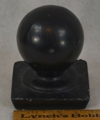 cast iron finial post topper horse hitch ball  architectural finial antique