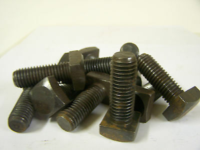 "5/8-11"" x 1 3/4"" Square Head Machine Bolts with Square Nuts Plain Steel Qty. 15"