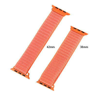 38/42mm Nylon Sport Loop Bracelet Watch Strap Band For Apple Watch Military