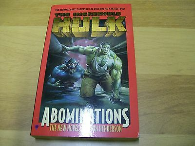 Jason Henderson-The Incredible Hulk-Abominations-Boulevard Books-1997-In Inglese