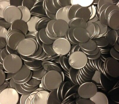 22mm Opaque Plastic Board Game Counters Tiddly winks Numeracy :- Silver
