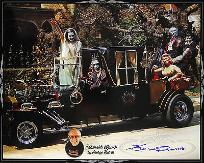 "2015 George Barris Munster Koach LE Signed 16x20 Photo ""Very Rare Oversized"" JSA"
