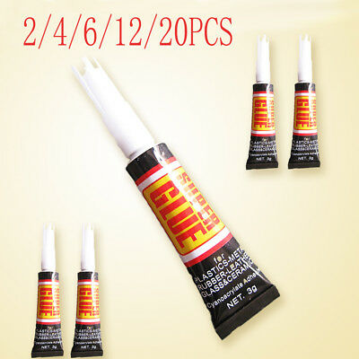 Lot 2~20PCS Super Glue Surface Insensitive Extra Strong Adhesive Fast Instant