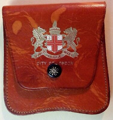 Vintage CITY of LONDON SQUIRE LEATHER COIN PURSE WALLET