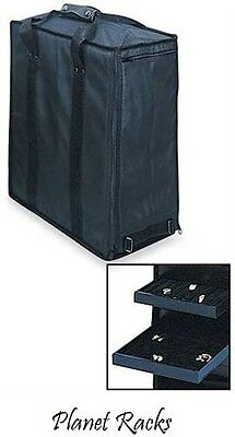 Planet Racks Travel Salesman Jewelry Carrying Case with 17 Trays