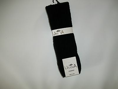 URANIA Italy Wool Blend BLACK Knit LEG WARMERS womens One Size Style# 560 NEW