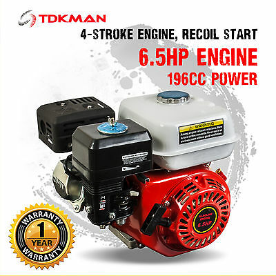 6.5HP Petrol Stationary Engine Motor 4-Stroke OHV Horizontal 20mm Shaft Replace