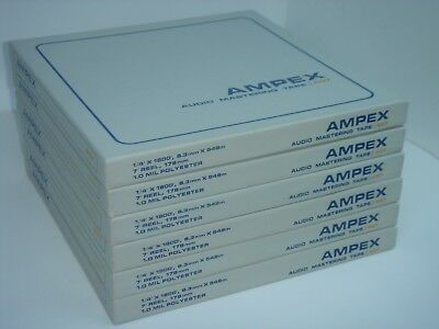 Lot of 6 AMPEX Audio Mastering Reel Tapes 407 1/4' x 1800' (Tape x 6) NEW