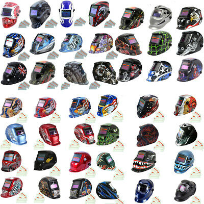 Auto Darkening Welding Helmet Mask Welders Grinding Function Solar Power + Lens