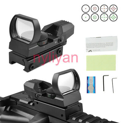 1x22x33 5MOA Optic Red/Green Dot Reflex Scope Sight 20mm Rail For Rifle Hunting