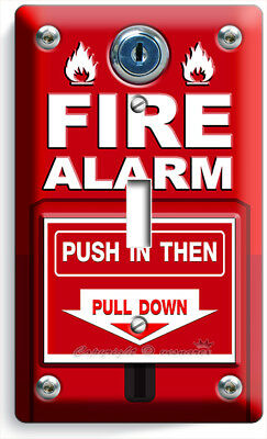 Fire Alarm Pull Down And Push Light Single Switch Wall Plate Cover Room Hd Decor