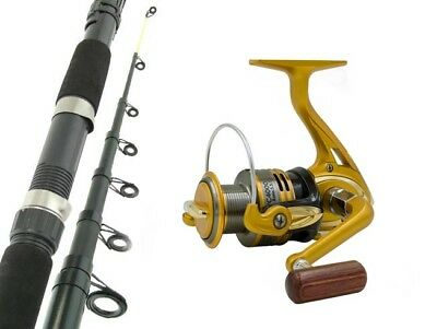 SARATOGA 8'0 12kg Telescopic Spinning Fishing Rod and Reel Combo Travel Boat