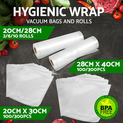 Vacuum Food Sealer Bags Roll Saver Storage Seal Heat Grade Commercial