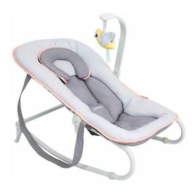 Babymoov Graphik Bouncer (Peach) With 5-Position Reclining Back