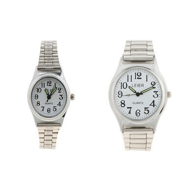 Women Men Watch Fashion Stainless Steel Strap Quartz Chic Wrist Watch LEIER
