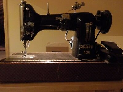 Vintage Pfaff 130 Home Sewing Machine With Accessories + Extras Works good