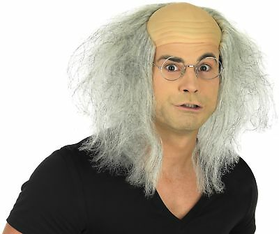 Mens Mad Professor Wig Accessory For 80s Halloween Fancy Dress Adults Male