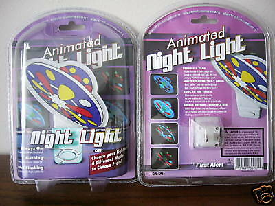 U.f.o. Night Light (4) Ufo Lights In One  ! Factory Sealed Mint