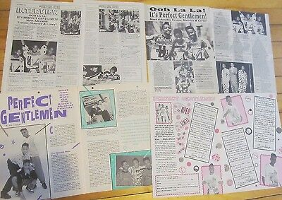 Perfect Gentlemen, Lot of FOUR Two Page Vintage Clippings