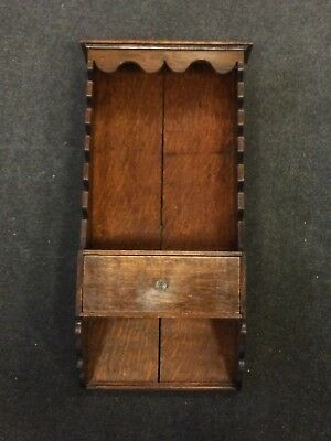 Antique 19th Century Victorian Mahogany Drawer Café 6 Tiered Newspaper Wall Rack