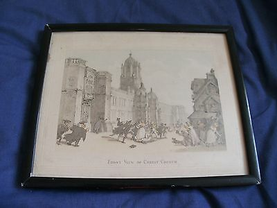 Vintage Framed Print - Front View Of Christ Church