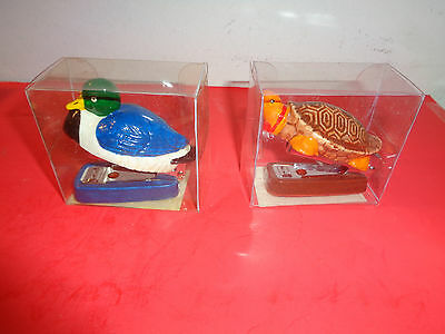 Pair of Duck & Turtle Staplers NIB (2.5Inch)