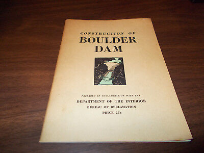 "1930s ""Construction of Boulder Dam"" 50-page Vintage Booklet"