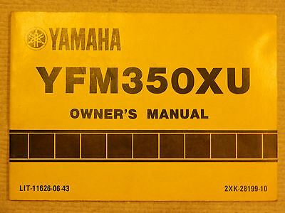Owner's Manual – 1988 Yfm350X - Warrior (Yfm350Xu) – Yamaha – Lit-11626-06-43