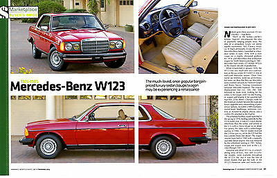 1976-1985 Mercedes-Benz W123  ~   Nice 6-Page Buyers Guide Article / Ad