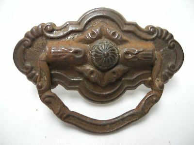 "Antique Center Screw 3"" Wide Pressed Tin Cabinet Drawer / Door Pull"
