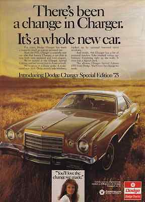 1975 Dodge Charger Special Edition  ~  Original Print Ad