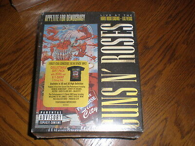 Guns N Roses CDS/TSHIRT Appetite For Democracy LIve At The Hard Rock Casino NEW