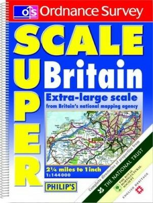 Ordnance Survey Superscale Road Atlas of Britain Paperback Book The Cheap Fast