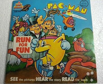 VINTAGE 1980 - Pac-Man Run For Fun -  BOOK & RECORD SET - NICE