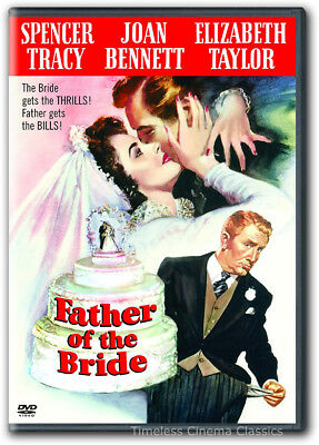 Father of the Bride DVD New Elizabeth Taylor Spencer Tracy Joan Bennett