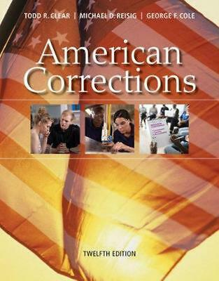 American Corrections by Todd Clear (English) Paperback Book Free Shipping!