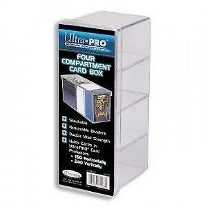 Ultra Pro : Four Compartment Card Deck Box ! 4-Compartment