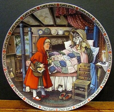 """1988 Little Red Riding Hood Karen Pritchett Knowles 8"""" Collector Plate FREE S/H"""