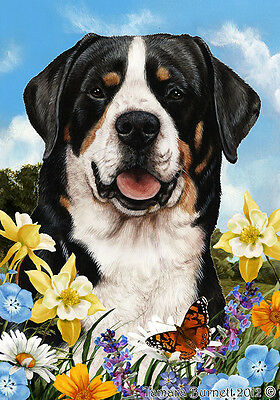 Large Indoor/Outdoor Summer Flag - Greater Swiss Mountain Dog 18144
