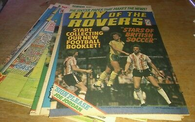 10 Roy Of The Rovers Comics 1976-80