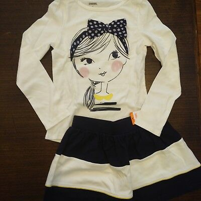 NWT Gymboree Girls Flower Shower Top/Skirt Outfit Size 6 7 10