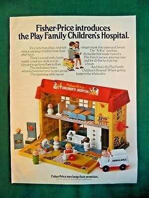 Vintage Toy Ad Fisher Price Play Family Children's Hospital 1976