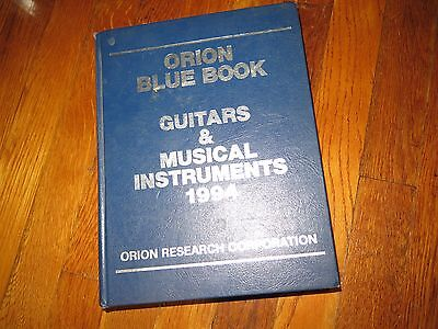 vintage 1994 ORION Price Guide guitars musical instruments