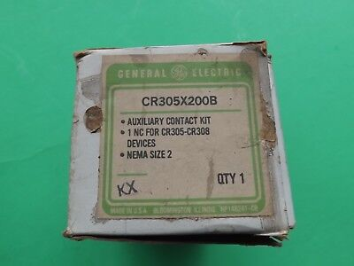 NOS GE General Electric CR305X200B Auxiliary Contact Kit For Cr305-Cr308 Size 2
