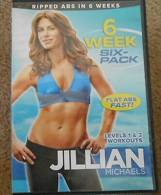 Jillian Michaels 6 Week Six Pack Core Abs Strength Workout Fitness Exercise DVD