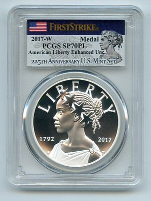 2017 W Silver American Liberty Medal PCGS SP70PL First Strike