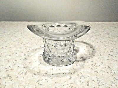 """Fostoria American 2 1/2"""" Tall Clear Topper Or Top Hat Excellent"""