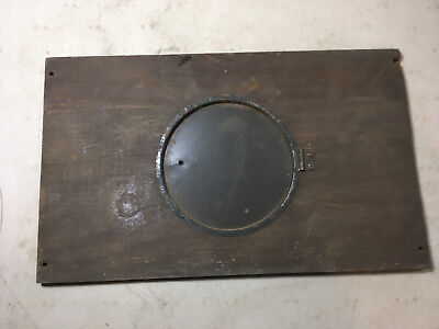 Vintage Unmarked Clock Rear Panel As Is For Parts / Repair