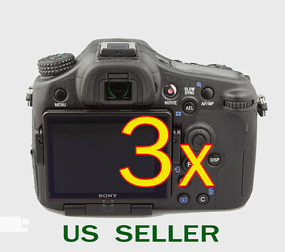 3x Clear LCD Screen Protector Guard Cover Film For Sony Alpha SLT-A77 Camera