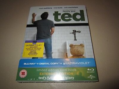 Ted (Limited Edition Steelbook) (Blu-ray, 2012) **NEW & SEALED**